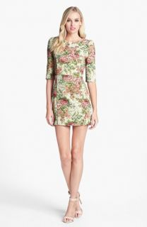 Line & Dot Jacquard Minidress