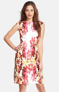 Adrianna Papell Floral Print Sheath Dress (Regular & Petite)