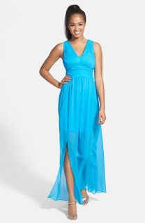 Hailey by Adrianna Papell Chiffon Gown with Short Dress