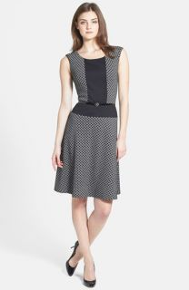 Anne Klein Diamond Ponte Flare Dress