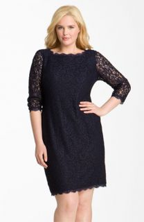 Adrianna Papell Lace Overlay Sheath Dress (Plus Size)