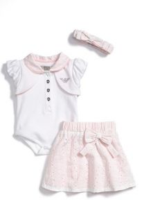 Armani Junior Bodysuit, Skirt & Headband Set (Baby Girls)