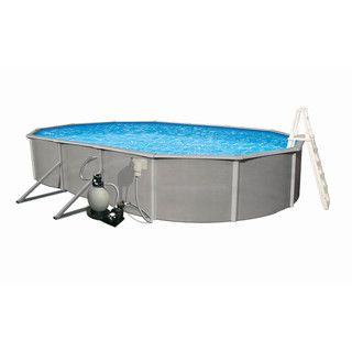 Belize Above Ground 15 x 30 foot Oval Swimming Pool Package Swim Time Above Ground Pools