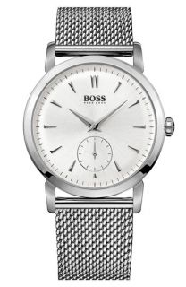 BOSS HUGO BOSS Round Mesh Strap Watch, 40mm