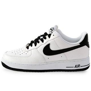 Nike Air Force 1 07 Le Low White Black Swoosh Mens Casual Shoes 315122 184 Shoes