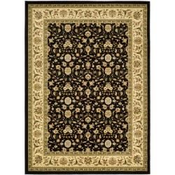 Lyndhurst Collection Traditional Black/Ivory Oriental Area Rug (9' x 12') Safavieh 7x9   10x14 Rugs
