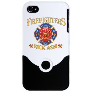 iPhone 4 or 4S Slider Case White Firefighters Kick Ash   Fire Fighter