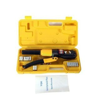 10 T Heavy Duty Aluminum Hydraulic Crimping Press Cable Crimper Wire Kit+ Case Free Ship via DHL