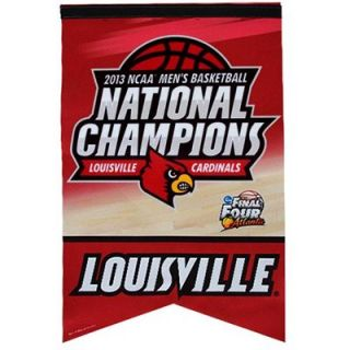 Louisville Cardinals 2013 NCAA Mens Basketball National Champions 17 x 26 Premium Banner