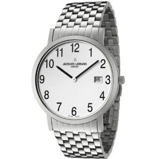 Jacques Lemans Men's GU197J Geneve Collection Baca Stainless Steel Watch JACQUES LEMANS Watches