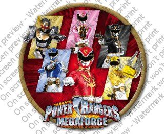 Power Ranger Megaforce Edible Cupcake Toppers Decoration  Other Products