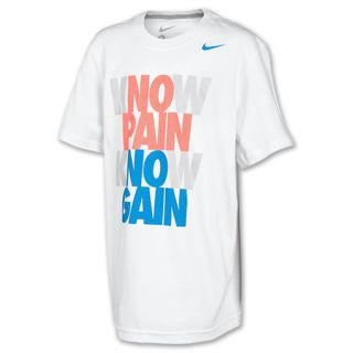 Kids' Nike Verbiage Tee Shirt  White/Dark Grey Heather