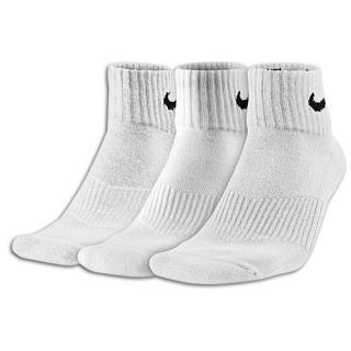 Nike 3 Pack Moisture MGT Cushion Quarter Socks   Mens   Training   Accessories   White/Grey