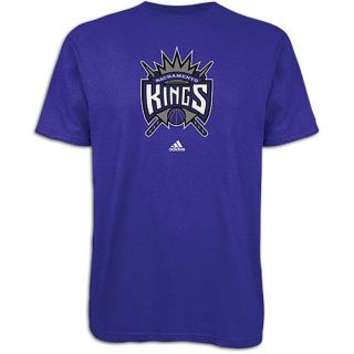 adidas NBA Primary Logo T Shirt   Mens   Basketball   Clothing   Sacramento Kings   Purple