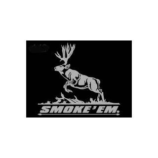 Smoke Em Upstream Images Silver Vinyl Wildlife Car Truck Window Decal Sticker Automotive