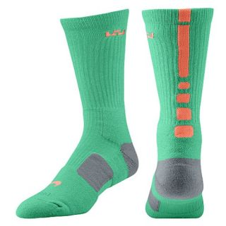 Nike LeBron Elite Basketball Crew   Mens   Basketball   Accessories   Gamma Green/Cool Grey/Bright Mango
