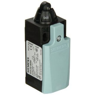 Siemens 3SE5 232 0BD03 Mechanical Position Switch, Complete Unit, Plastic Enclosure, 31mm Width, Roller Plunger, 10mm Plastic Roller, Slow Action Contacts, 1 NO + 1 NC Contacts