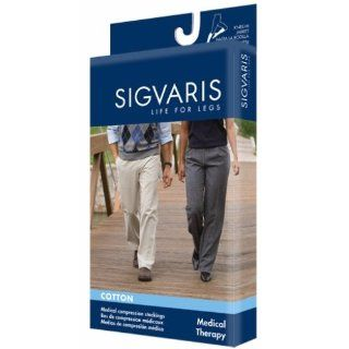Sigvaris 232 Cotton Knee High Open Toe Socks, 20 30mmHg Health & Personal Care