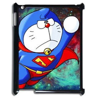Classic Cartoon&Anime Doraemon with Superman Style iPad 2/3/4 Case Cover Cell Phones & Accessories