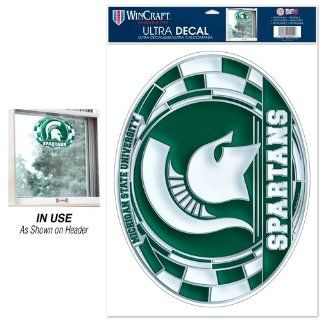 "Michigan State Spartans Official NCAA 11""x17"" Car Window Cling Decal by Wincraft  Sports Fan Automotive Decals  Sports & Outdoors"