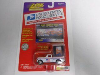 Johnny Lightning US Postal Service Truck & Stamp Space Discovery Series. 1960s Studebaker (White).  Other Products