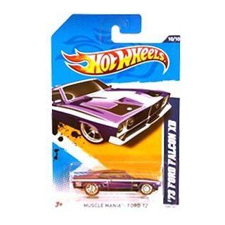 Hot Wheels Super Treasure Hunt   '73 Ford Falcon XB (Purple w/White Stripes), Red Line Tires   Muscle Mania, Ford '12   10/10 ~ 120/247 [Scale 164] Toys & Games