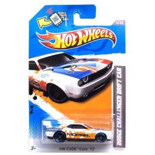 Hot Wheels White Orange/blue Trim Dodge Challenger Drift Car 2012 Hw Code 4/22 229/247 Toys & Games
