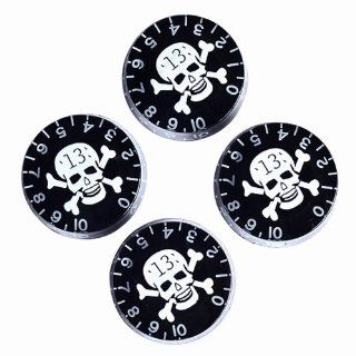 4pcs Speed Control Knobs with Skull Logo Black for Gibson Les Paul Replacement Musical Instruments