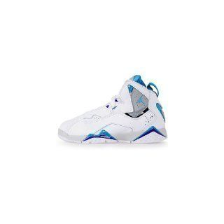 Nike Air Jordan TRUE FLIGHT (PS) BASKETBALL SHOES (White / Neo Turq) Kids 342775 141 (12) Shoes