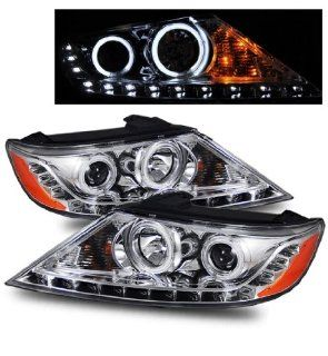 For 11 12 Kia Sorento DRL/LED CCFL Angel Eye Halo Chrome Projector Headlights Automotive