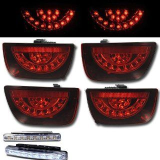 2010 2011 CHEVY CAMARO REAR BRAKE TAIL LIGHTS LAMPS RED LENS+LED BUMPER RUNNING Automotive
