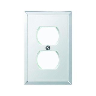 Jackson Deerfield Mfg. 9MC108 Beveled Glass Mirror Outlet Wall Plate   Blank Wall Plates