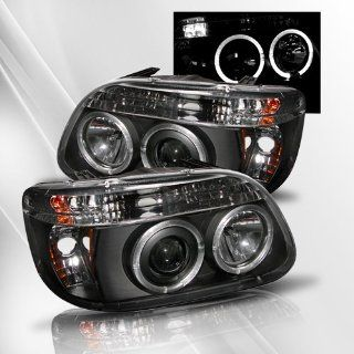 Ford Explorer 95 96 97 98 99 00 01 Projector Headlights /w Halo/Angel Eyes ~ pair set (Black) Automotive
