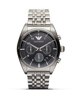 Emporio Armani 316 Stainless Steel Textured Dial Bracelet Watch, 42.5mm's