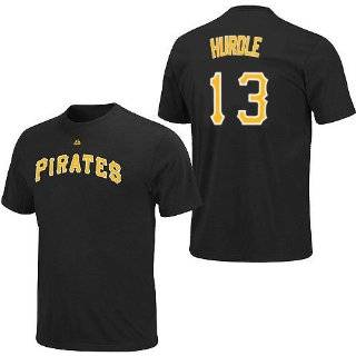 Clint Hurdle Pittsburgh Pirates Black Player T Shirt by Majestic  Sports Fan T Shirts  Sports & Outdoors