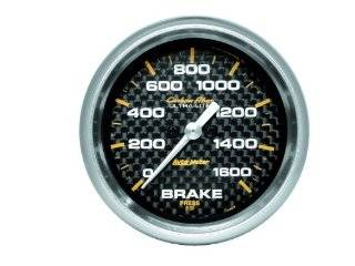 Auto Meter 4867 Carbon Fiber Electric Brake Pressure Gauge Automotive