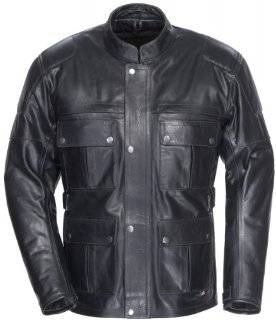 Tourmaster Lawndale Mens Black Leather Jacket Automotive