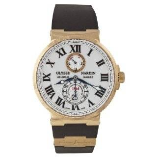 Ulysse Nardin Men's 266 67 3 40 Maxi Marine Chronometer 43mm White Dial Rose Gold Watch Watch Ulysse Nardin Watches