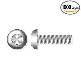 (1000pcs) M3 X 20 Button Head Hex Socket Drive Cap Screws Stainless Steel 18 8 Ships Free in USA
