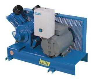 Jenny Compressors GT5B B 460/3 5 HP 80 Gallon Tank 3 Phase 460 Volt, 900 Pump RPM Two Stage Electric Base Plate Mounted Air Compressor