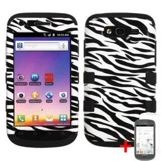 GALAXY S BLAZE T769 BLACK WHITE ZEBRA ANIMAL HYBRID COVER HARD GEL CASE +FREE SCREEN PROTECTOR from [ACCESSORY ARENA] Cell Phones & Accessories