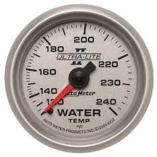 "Auto Meter 4932 Ultra Lite II 2 1/16"" 120 240 Degree F Mechanical Water Temperature Gauge Automotive"