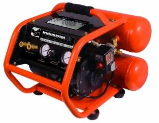 Industrial Air Contractor CSB1680521 4 1/2 Gallon Roll Cage Oil Free Direct Drive Air Compressor, Orange