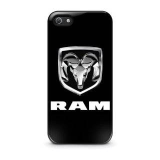 Dodge RAM Pickup Truck Chrome Logo iPhone 4 4s Hard Plastic Black Case Cell Phones & Accessories