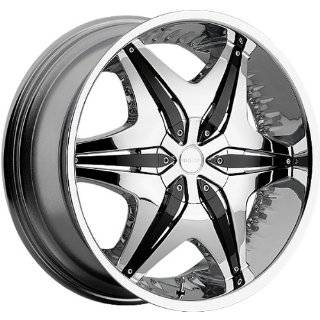 AKUZA WHEELS BIG PAPI CHROME BLK INSERT 5X115/5X120 +   24X9 Automotive