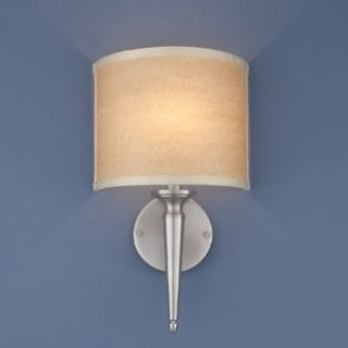 Norwell Lighting 8213 BN WS Georgetown   One Light Wall Sconce, Glass Options White Shade, Choose Finish BN Brushed Nickel