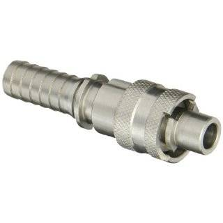 "Dixon Valve QSS4 Stainless Steel 303 Dix Lock Air Fitting, Quick Acting Coupler, 1/2"" Male Head x 3/4"" Hose ID"