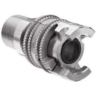 "Dixon PML12SS Stainless Steel 303 Dual Lock Quick Acting Air Hose Fitting with Locking Sleeve, Socket, 1/2"" Coupling x 3/4"" NPT Male Universal Hose Fittings"