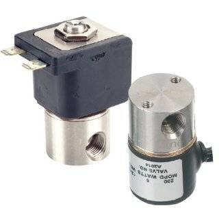 "Gems Sensors A2016 C111 303 Stainless Steel General Purpose Solenoid Valve, 100 psig Pressure, 0.24 Cv, 1/8"" Orifice, 120 VAC Voltage, 60 Hz"