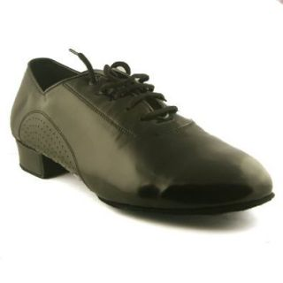 SoulDancer USA, Model 309 Men's Ballroom Shoes, Black Patent Leather Shoes